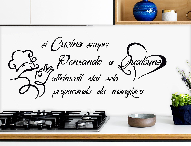 Wall stickers adesivi murali cucina kitchen si cucina - Wall stickers cucina ...