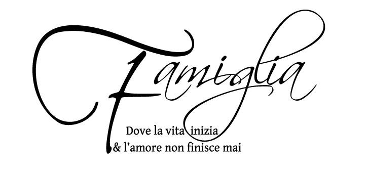 Sticker Design Vi Presenta Adesivo Murale Famiglia Amore