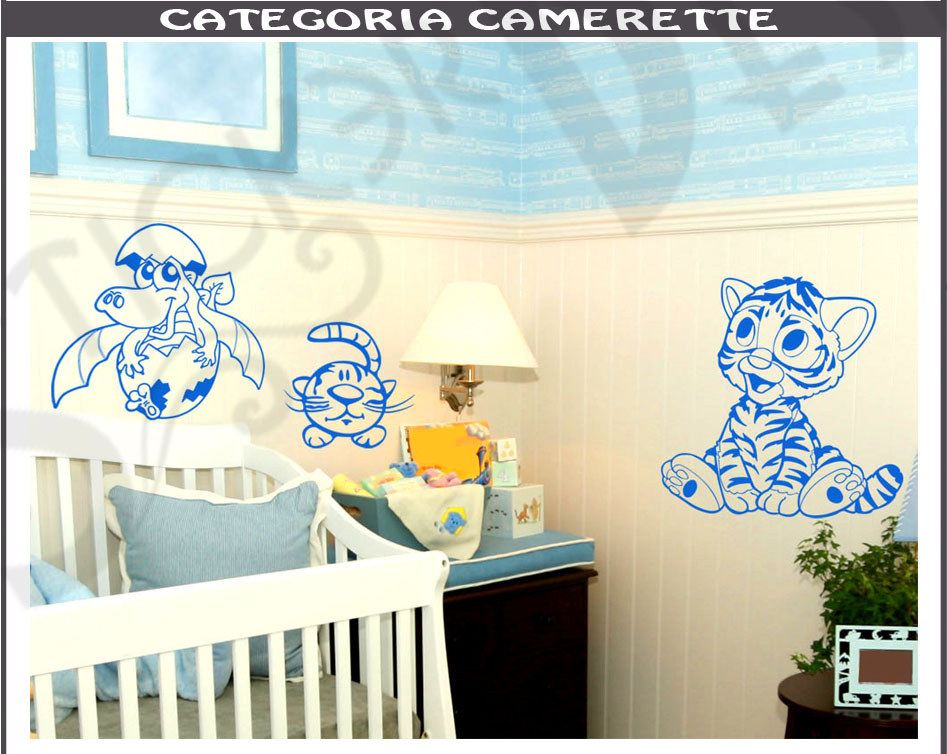 Wall stickers cameretta adesivi murali bambini adesivo - Adesivi camera bimbi ...